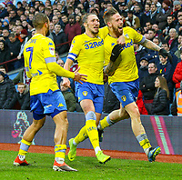 Leeds United's Pontus Jansson celebrates scoring his side's second goal<br /> <br /> Photographer Alex Dodd/CameraSport<br /> <br /> The EFL Sky Bet Championship - Aston Villa v Leeds United - Sunday 23rd December 2018 - Villa Park - Birmingham<br /> <br /> World Copyright &copy; 2018 CameraSport. All rights reserved. 43 Linden Ave. Countesthorpe. Leicester. England. LE8 5PG - Tel: +44 (0) 116 277 4147 - admin@camerasport.com - www.camerasport.com