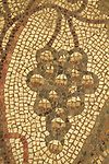 Israel, Shephelah, the mosaic floor at the Byzantine Church in Beth Loya