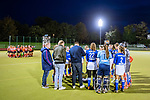 Ruesselsheim, Germany, October 11: During the 1. Hockey Bundesliga women match between Ruesselsheimer RK and Mannheimer HC on October 11, 2019 at Ruesselsheimer RK in Ruesselsheim, Germany. Final score 1-3. (Copyright Dirk Markgraf / 265-images.com) ***