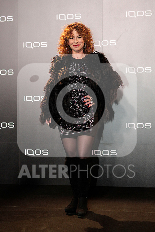 Vicky Larraz attends to IQOS3 presentation at Palacio de Cibeles in Madrid. February 10,2019. (ALTERPHOTOS/Alconada)
