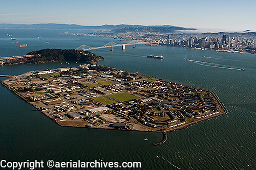 aerial photograph Treasure Island toward downtown San Francisco