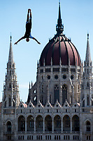 Picture by Rogan Thomson/SWpix.com - 30/07/2017 - High Diving - Fina World Championships 2017 -  Batthyany Ter, Budapest, Hungary - A diver in action during the Final of the Men's High Dive competition.