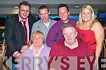 PEARL ANNIVERSARY: Eileen and Patrick O'Mahony, Leith West having a great time celebrating their 30th wedding anniversary with family and friends at the Kingdom Greyhound Stadium on Friday seated l-r: Eileen and Patrick O'Mahony. Back l-r: Charles, Dermot, Padraig and Kathy O'Mahony.   Copyright Kerry's Eye 2008