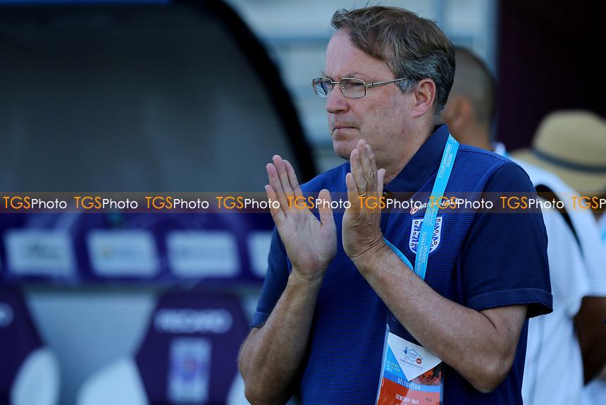 England U18 Head Coach, Neil Dewsnip during England Under-18 vs Scotland Under-20, Toulon Tournament Semi-Final Football at Stade Parsemain on 8th June 2017
