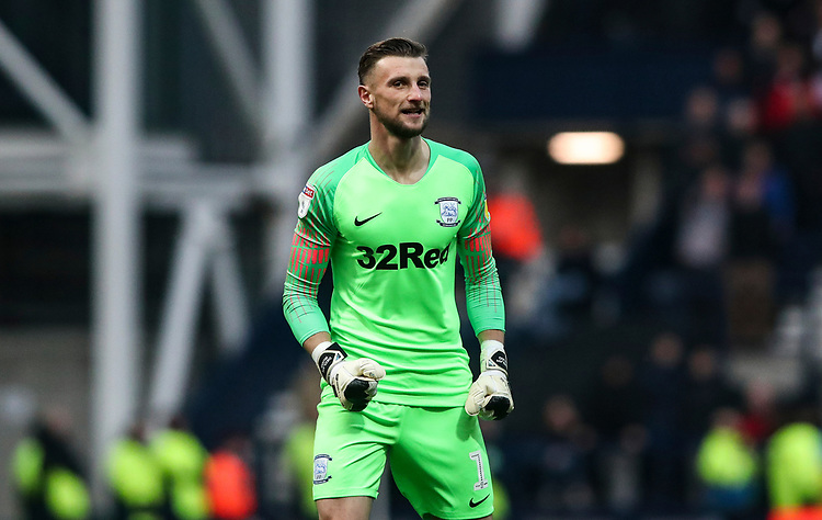 Preston North End's Declan Rudd celebrates scoring his sides fourth goal<br /> <br /> Photographer Rachel Holborn/CameraSport<br /> <br /> The EFL Sky Bet Championship - Preston North End v Blackburn Rovers - Saturday 24th November 2018 - Deepdale Stadium - Preston<br /> <br /> World Copyright © 2018 CameraSport. All rights reserved. 43 Linden Ave. Countesthorpe. Leicester. England. LE8 5PG - Tel: +44 (0) 116 277 4147 - admin@camerasport.com - www.camerasport.com