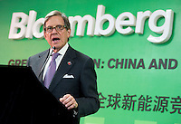 Bloomberg Chairman Peter Grauer speaks during Bloomberg Forum 'Green Evolution: China and the Global New Energy Race', at the USA Pavilion, in Shanghai World Expo 2010, China, on October 21, 2010. Photo by Lucas Schifres/Pictobank
