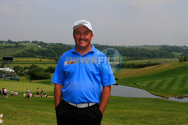 Damien McGrane on the 18th hole to finish his round with a magnificent 66 on the 3rd Day of The Celtic Manor Wales Open, 5th June 2010 (Photo by Eoin Clarke/GOLFFILE).