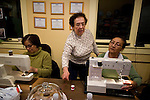 Sewing class.Guatemalan immigrants .Neighbors Link Community Center, Mt. Kisco, N.Y...