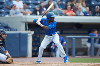 Chris Singleton (3) of the South Bend Cubs at bat against the West Michigan Whitecaps at Fifth Third Ballpark on June 10, 2018 in Comstock Park, Michigan. The Cubs defeated the Whitecaps 5-4.  (Brian Westerholt/Four Seam Images)