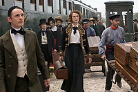 COLETTE (2018)<br /> (left) Dickie Beau stars as Wague and (ctr) Keira Knightley as Colette<br /> *Filmstill - Editorial Use Only*<br /> CAP/FB<br /> Image supplied by Capital Pictures
