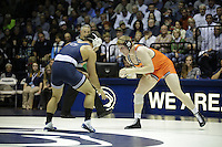 STATE COLLEGE, PA -DECEMBER 19: Morgan McIntosh of the Penn State Nittany Lions during a match against Jared Haught of the Virginia Tech Hokies on December 19, 2014 at Recreation Hall on the campus of Penn State University in State College, Pennsylvania. Penn State won 20-15. (Photo by Hunter Martin/Getty Images) *** Local Caption *** Morgan McIntosh;Jared Haught