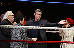 Thomas Meehan, Lynn Ahrens, Terence Archie, Sylvester Stallone and Margo Seibert  during the Broadway Opening Night Performance curtain call for 'Rocky on Broadway' at the Winter Garden Theatre on March 13, 2014 in New York City.