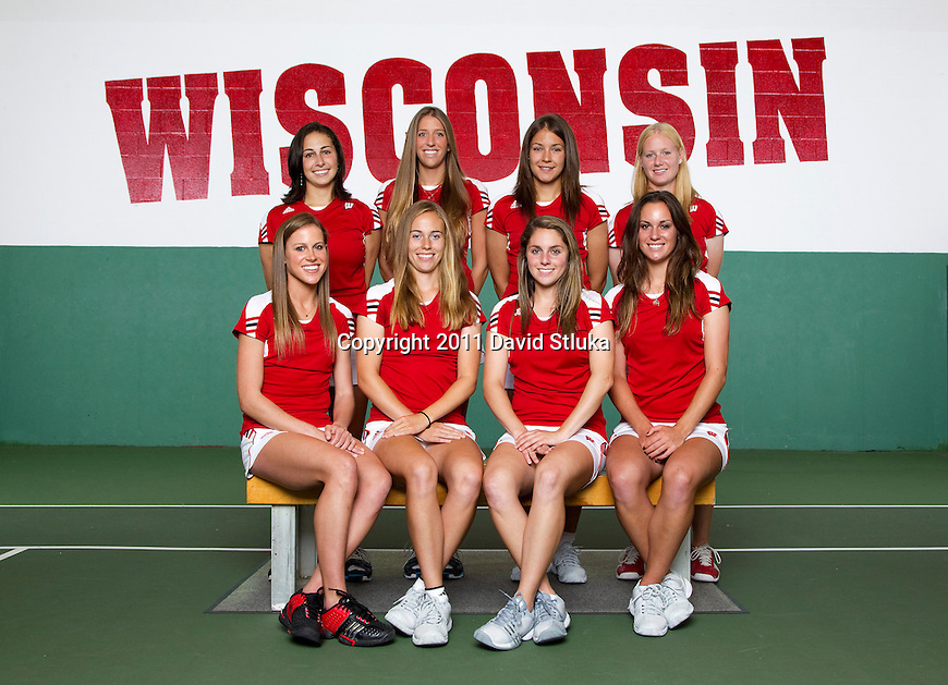 Wisconsin Badgers women's tennis team at the Nielsen Tennis Center on September 26, 2011. (Photo by David Stluka).