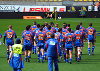 The Horowhenua Kapiti team walk in before the Heartland Championship rugby match between Horowhenua Kapiti and Wairarapa Bush at Westpac Stadium in Wellington, New Zealand on Sunday, 1 October 2017. Photo: Dave Lintott / lintottphoto.co.nz