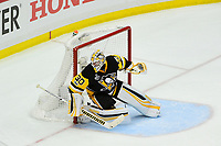 May 29, 2017: Pittsburgh Penguins goalie Matt Murray (30) tends the net during game one of the National Hockey League Stanley Cup Finals between the Nashville Predators  and the Pittsburgh Penguins, held at PPG Paints Arena, in Pittsburgh, PA. Pittsburgh defeats Nashville 5-3 in regulation time.  Eric Canha/CSM