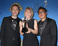 LOS ANGELES - FEB 17:  Matthew Libatique, Isabella James Purefoy Ellis, Emmanuel Lubezki at the 32nd American Society of Cinematographers Awards at Dolby Ballroom on February 17, 2018 in Los Angeles, CA