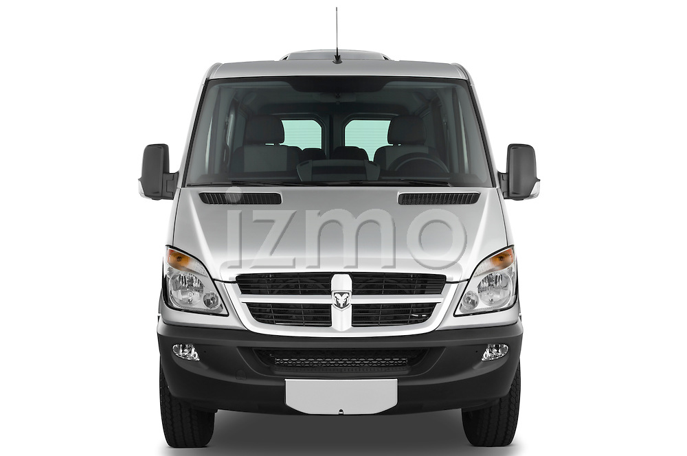 Straight front view of a 2008 Dodge Sprinter Passenger Van