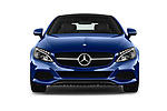 Car photography straight front view of a 2017 Mercedes Benz C-Class C300 2 Door Coupe Front View