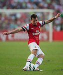 Carl Jenkinson of Arsenal FC in action during the pre-season Asian Tour friendly match against Kitchee FC at the Hong Kong Stadium on July 29, 2012. Photo by Victor Fraile / The Power of Sport Images