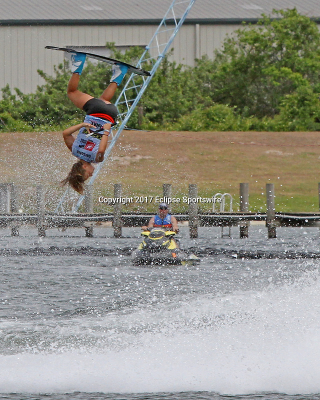 ORLANDO, FL - April 30:  Giorgia Gregorio ITA wins the Women's Professional Division Final of the WWA Nautique Wake Open 2017 at  the Orlando Watersports Complex on April 30, 2017 in Orlando, Florida. (Photo by Liz Lamont/Eclipse Sportswire/Getty Images)