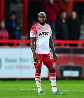 Stevenage's Jamal Campbell-Ryce<br /> <br /> Photographer Andrew Vaughan/CameraSport<br /> <br /> The EFL Sky Bet League Two - Stevenage v Lincoln City - Saturday 8th December 2018 - The Lamex Stadium - Stevenage<br /> <br /> World Copyright © 2018 CameraSport. All rights reserved. 43 Linden Ave. Countesthorpe. Leicester. England. LE8 5PG - Tel: +44 (0) 116 277 4147 - admin@camerasport.com - www.camerasport.com