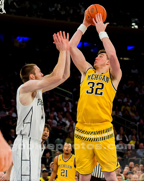 The University of Michigan men's basketball team defeats Penn State, 79-72, at Madison Square Garden in New York on Jan. 30, 2016.