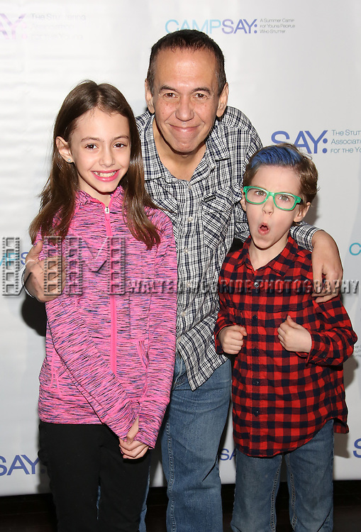 Lily Gottfried, Gilbert Gottfried and Max Gottfried  attends the 5th Annual Paul Rudd All-Star Bowling Benefit for (SAY) at Lucky Strike Lanes on February 13, 2017 in New York City.