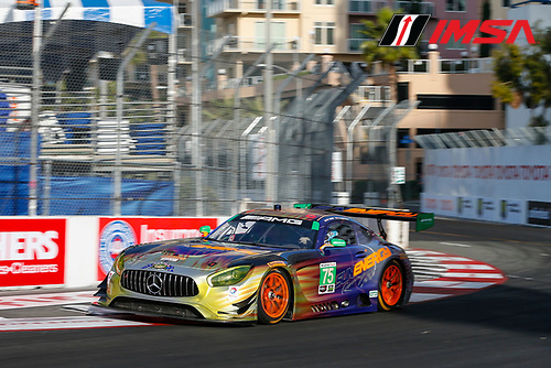 2017 IMSA WeatherTech SportsCar Championship<br /> BUBBA burger Sports Car Grand Prix at Long Beach<br /> Streets of Long Beach, CA USA<br /> Friday 7 April 2017<br /> 75, Mercedes, Mercedes AMG GT3, GTD, Boris Said, Tristan Vautier<br /> World Copyright: Jake Galstad/LAT Images