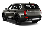 Car pictures of rear three quarter view of a 2020 KIA Telluride SX 5 Door SUV angular rear