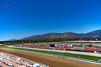 An overview of Santa Anita Park in Arcadia California on April 7, 2012.