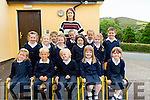 Caragh Lake NS Junior Infants 2016<br /> <br /> Front Row<br /> L-R Mia Robertson, Nathan Smith, Nick Lundberg, Emma Coffey, Abbie Foley<br /> Middle Row<br /> L-R Nicole Flynn, Amy Mangan, Emily Moriarty, Kayla Moriarty, <br /> Back Row<br /> L-R Nicole Murphy, Scarlett Mulvihill, Donnacha Quigg, MeganQuigg, Ryan McGillicuddy.<br /> With their teacher Miss Sin&Egrave;ad Pigott