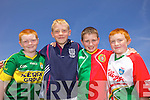 Enjoying the Kelloggs Hurling Cul Camps in Causeway on Friday were: Matthew Burke, Daniel Mahoney, Aidan Lane and Daniel Burke.