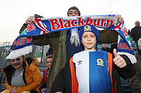Blackburn Rovers Fans at the start of todays match<br /> <br /> Photographer Rachel Holborn/CameraSport<br /> <br /> The EFL Sky Bet League One - Gillingham v Blackburn Rovers - Tuesday 10th April 2018 - Priestfield Stadium - Gillingham<br /> <br /> World Copyright &copy; 2018 CameraSport. All rights reserved. 43 Linden Ave. Countesthorpe. Leicester. England. LE8 5PG - Tel: +44 (0) 116 277 4147 - admin@camerasport.com - www.camerasport.com