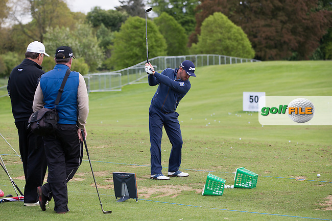 Graeme McDowell (NIR) on the driving range, during Wednesday's Pro-Am day ahead of the 2016 Dubai Duty Free Irish Open Hosted by The Rory Foundation which is played at the K Club Golf Resort, Straffan, Co. Kildare, Ireland. 18/05/2016. Picture Golffile | David Lloyd.<br /> <br /> All photo usage must display a mandatory copyright credit as: &copy; Golffile | David Lloyd.
