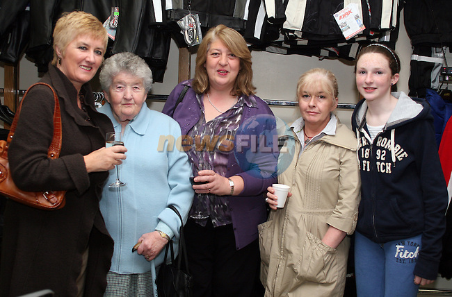 Eileen Crinion, Ethel Kennedy, Mary Klaus Kennedy, Josephine Walsh and Emily Norton at Kennedys 60th Anniversary...Photo NEWSFILE/Jenny Matthews.(Photo credit should read Jenny Matthews/NEWSFILE)....This Picture has been sent you under the condtions enclosed by:.Newsfile Ltd..The Studio,.Millmount Abbey,.Drogheda,.Co Meath..Ireland..Tel: +353(0)41-9871240.Fax: +353(0)41-9871260.GSM: +353(0)86-2500958.email: pictures@newsfile.ie.www.newsfile.ie.FTP: 193.120.102.198.