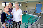 PAINLESS THERAPY: Members of the Arthritis Ireland Kerry Branch are delighted they can go ahead with the first ever Hydrotherapy sessions to help relieve pain for patients suffering from arthritis.Pictured: Physio assistant from Enable Ireland Kerry branch Brid Browne with  Gillian Rowe and Tom Barrett (Arthritis Ireland Kerry branch).