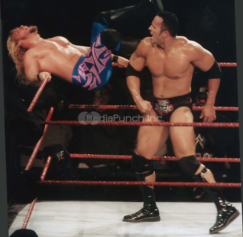 &quot;The Rock'' Dwayne Johnson and Chris Jericho 1999<br /> Photo to By John Barrett/PHOTOlink/MediaPunch