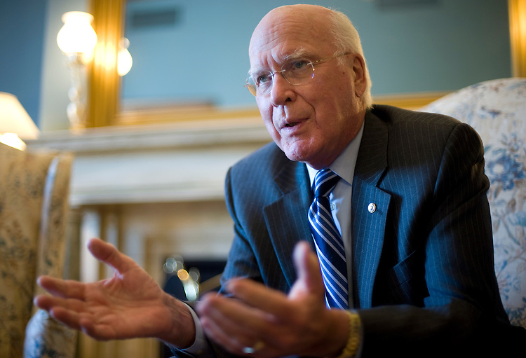 Sen. Pat Leahy, D-Vt., is interviewed by Roll Call in his Russell Building office, May 20, 2009.