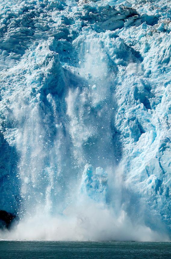 Holgate Glacier calves into Holgate Arm, Aialik Bay, Kenai Fjords National Park, Alaska.