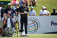 Matthew Fitzpatrick (ENG) on the 1st tee during the 2nd round at the WGC Fedex St Jude Invitational, TPC Southwinds, Memphis, Tennessee, USA. 26/07/2019.<br /> Picture Ken Murray / Golffile.ie<br /> <br /> All photo usage must carry mandatory copyright credit (© Golffile | Ken Murray)