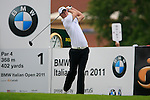 Chris Wood (ENG) tees off to start his round on the 1st tee during Day 2 of the BMW Italian Open at Royal Park I Roveri, Turin, Italy, 10th June 2011 (Photo Eoin Clarke/Golffile 2011)