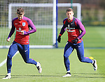 England's John Stones and Ross Barkley during training at the Tottenham Hotspur Training Centre.  Photo credit should read: David Klein/Sportimage