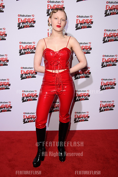 Tallulah Rose Haddon arriving for the Empire Awards 2018 at the Roundhouse, Camden, London, UK. <br /> 18 March  2018<br /> Picture: Steve Vas/Featureflash/SilverHub 0208 004 5359 sales@silverhubmedia.com