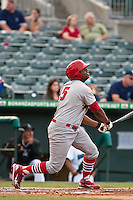 May 1 2010: Xavier Scruggs (15) of the Palm Beach Cardinals during a game vs. the Jupiter Hammerheads at Roger Dean Stadium in Jupiter, Florida. Palm Beach, the Florida State League High-A affiliate of the St. Louis Cardnials, won the game against Jupiter, affiliate of the Florida MArlins, by the score of 5-4  Photo By Scott Jontes/Four Seam Images
