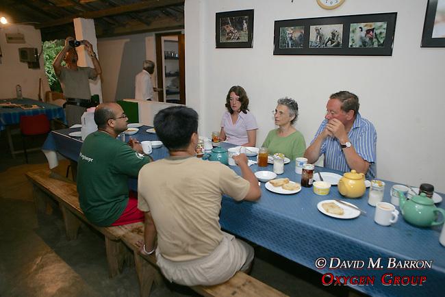 Earthwatchers Eating Breakfast