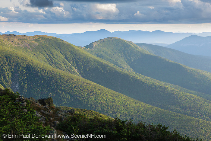 Presidential Range from the Jewell Trail in the White Mountains, New Hampshire USA.