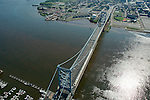 Aerial photograph ofBen Franklin Bridge into Camden NJ