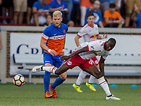 Cincinnati, OH - Tuesday August 15, 2017: Bradley Wright-Phillips during a 2017 U.S. Open Cup game between FC Cincinnati vs New York Red Bulls at Nippert Stadium.