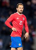 23rd March 2018, Hampden Park, Glasgow, Scotland; International Football Friendly, Scotland versus Costa Rica; Marco Urena of Costa Rica