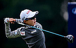 Hyo-Joo Kim of Korea plays a shot during the Hyundai China Ladies Open 2014 practice day on December 11 2014 at Mission Hills Shenzhen, in Shenzhen, China. Photo by Xaume Olleros / Power Sport Images